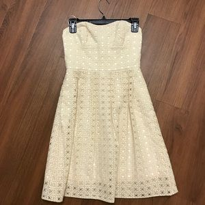 JCrew Off-white Eyelet Dress